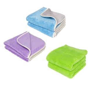 Three Prima microfiber towels